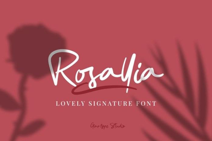 Rosallia Script Font