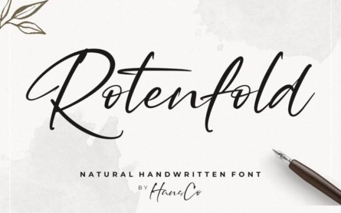 Rotenfold Script Font