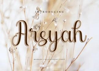 Arsyah Calligraphy Font