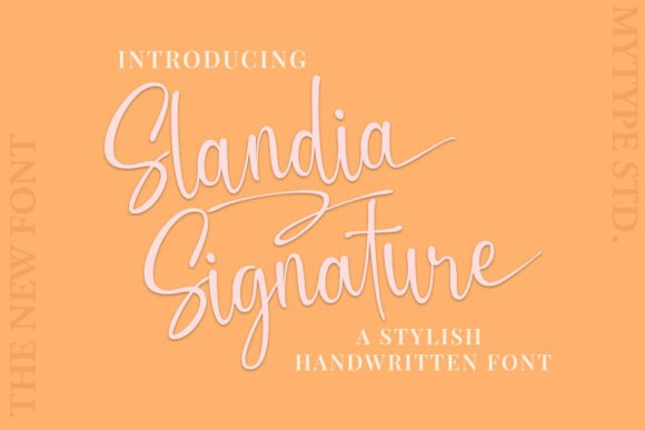 Slandia Calligraphy Font
