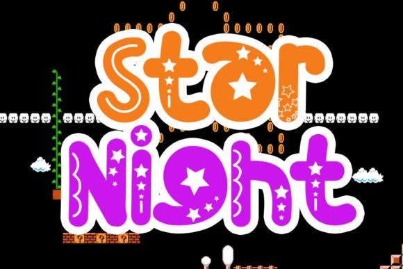 Star Night Display Font