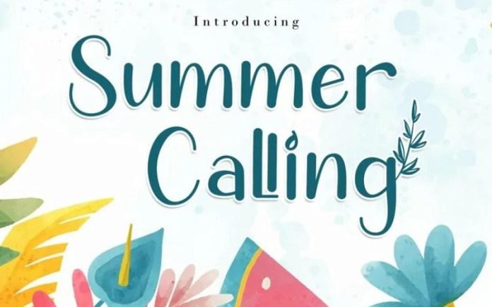 Summer Calling Display Font