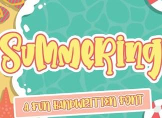 Summering Display Font