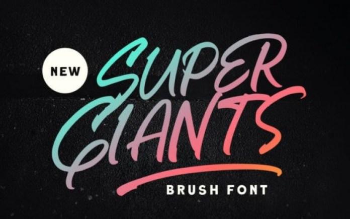 Super Giants Script Font
