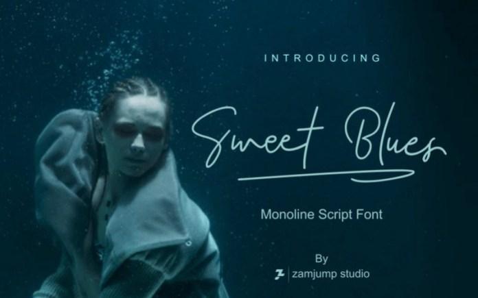 Sweet Blues Handwritten Font