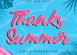 Thanks Summer Script Font