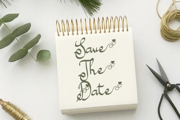Wedding Date Script Font