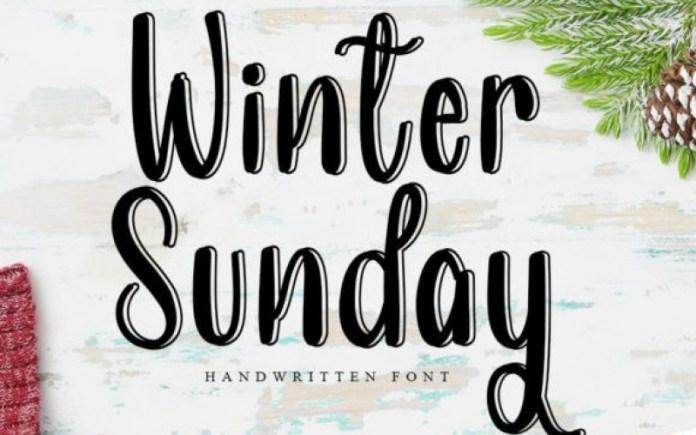 Winter Sunday Display Font