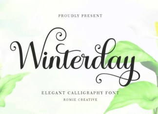 Winterday Calligraphy Font