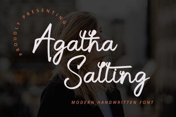Agatha Salting Script Font