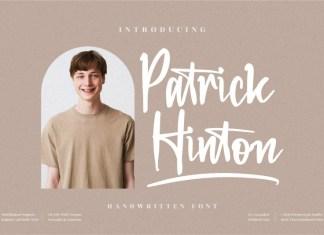 Patrick Hinton Handwritten Font
