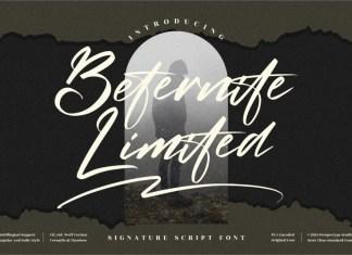 Beternite Limited Script Font