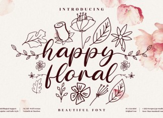 Happy Floral Script Font