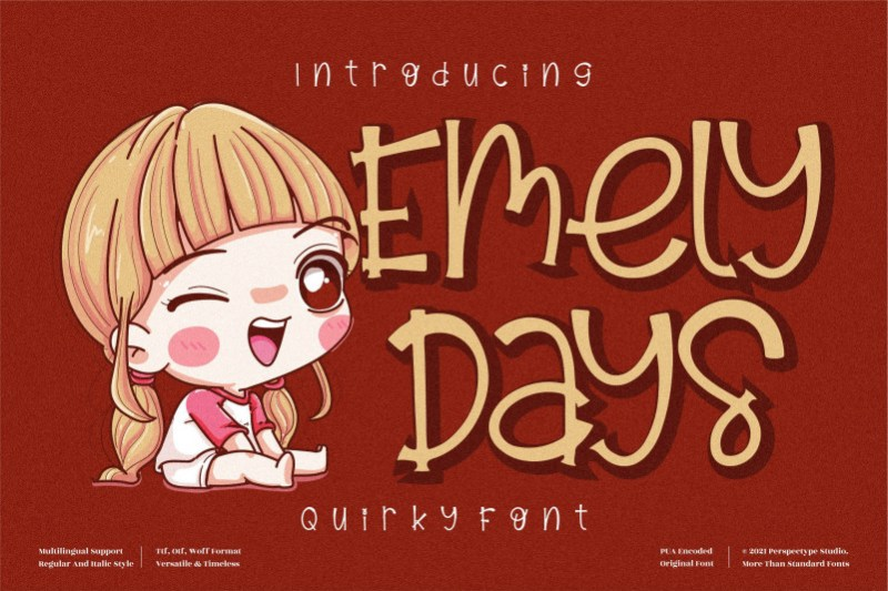 Emely Days Display Font