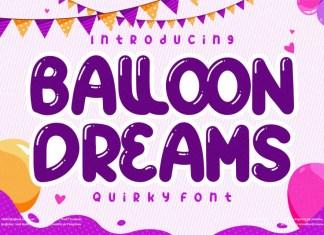 Ballon Dreams Display Font