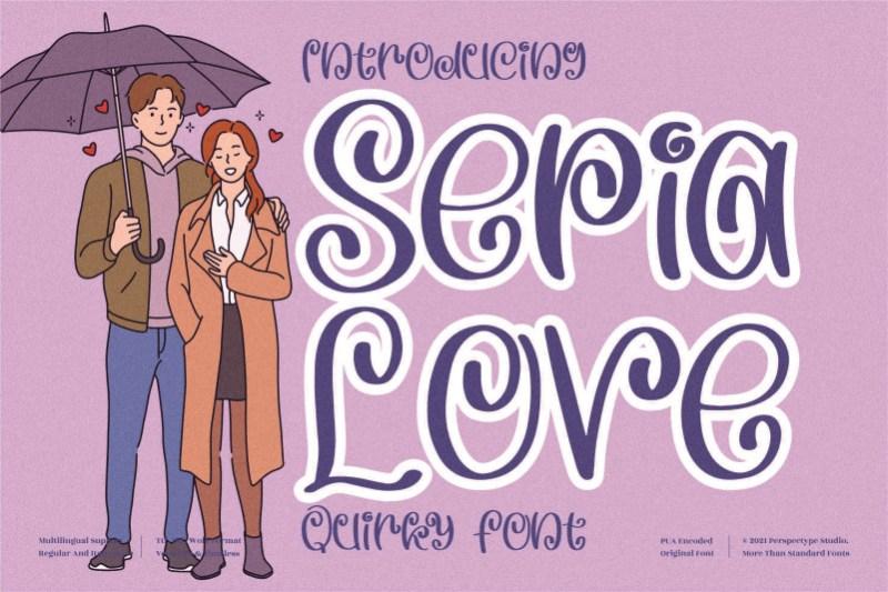 Sepia Love Display Font