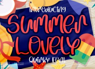 Summer Lovely Display Font