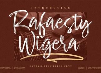 Rafaesty Wigera Brush Font