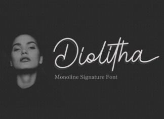 Diolitha Handwritten Font