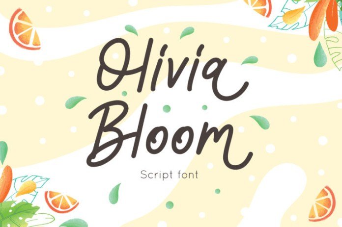Olivia Bloom Handwritten Font