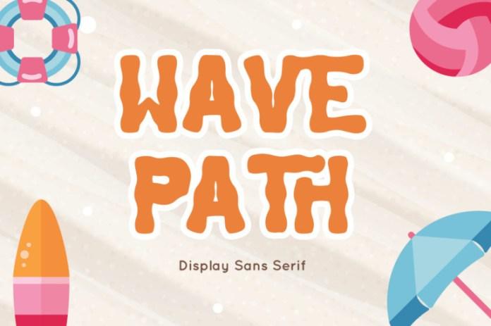 Wave Path Display Font