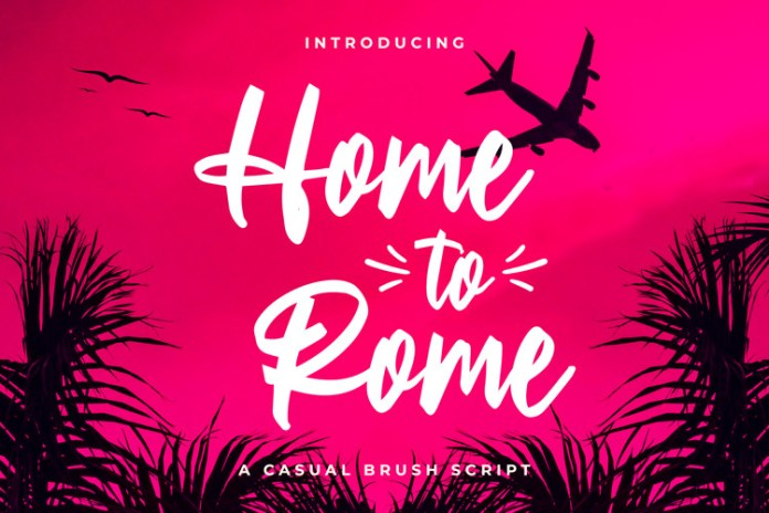 Home to Rome Script Font
