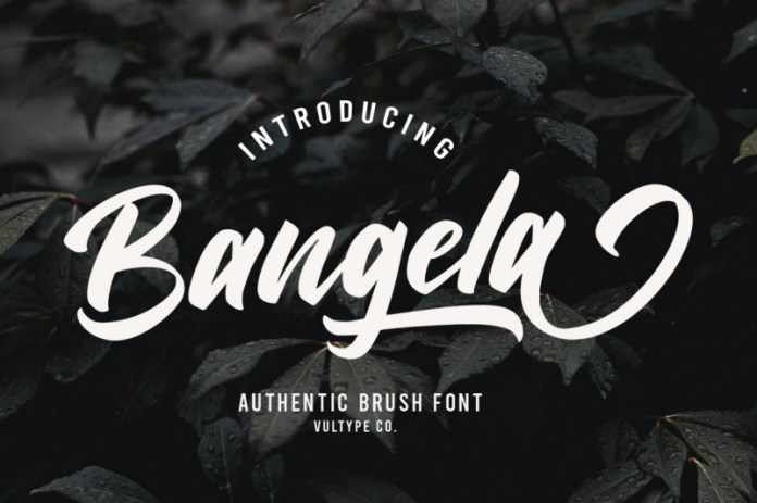 Bangela Script Font