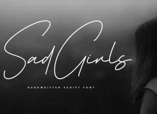 Sad Girls Handwritten Font