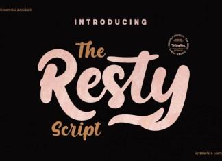 RestyScript Font