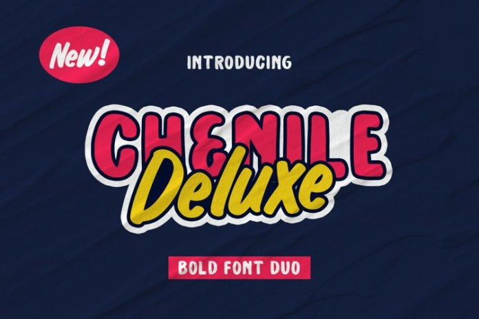 Chenile Deluxe Display Font