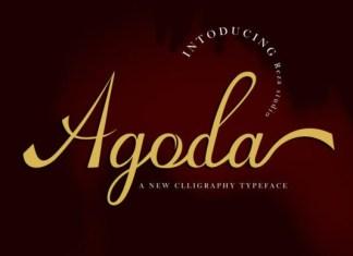 Agoda Calligraphy Font