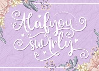Alafyou Swirly Script Font