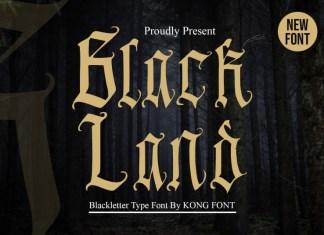 Black Land Blackletter Font