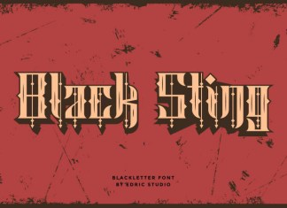 Black Sting Display Font