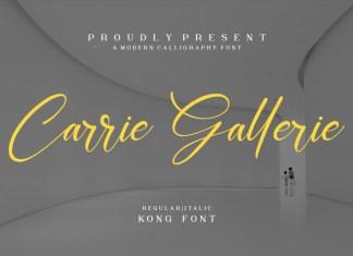 Carrie Gallerie Script Font
