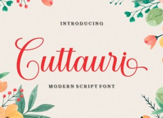 Cuttauri Calligraphy Font