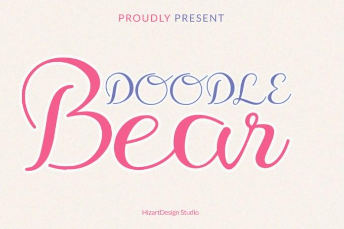 Doodle Bear Script Font