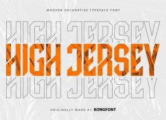 High Jersey Display Font