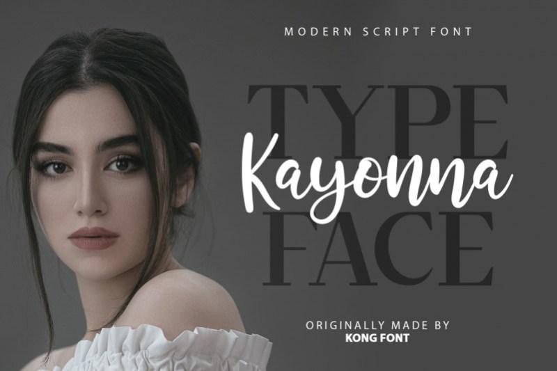 Kayonna Script Font