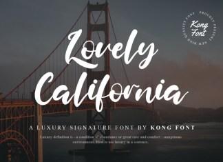 Lovely California Script Font