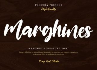 Marghines Script Font