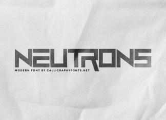 Neutrons Display Font