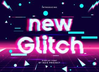 New Glitch Display Font