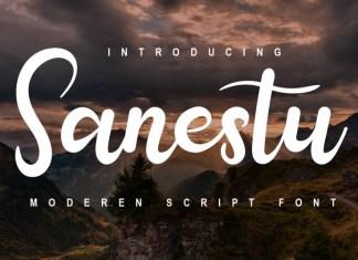 Sanestu Script Font