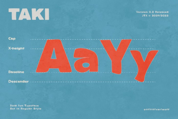 TAKI Display Font