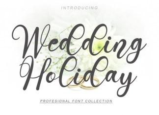 Wedding Holiday Script Font
