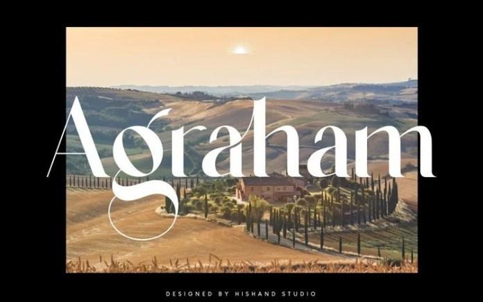 Agraham Serif Font