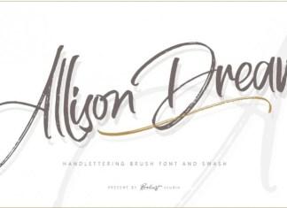 Allison Dream Brush Font