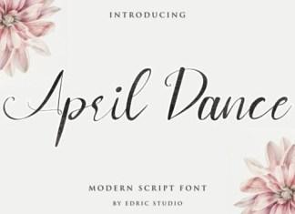 April Dance Calligraphy Font