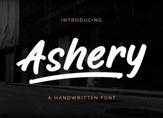 Ashery Handwritten Font